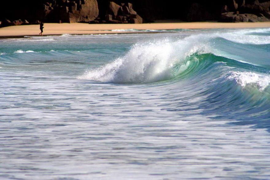 Surf at Porthcurno
