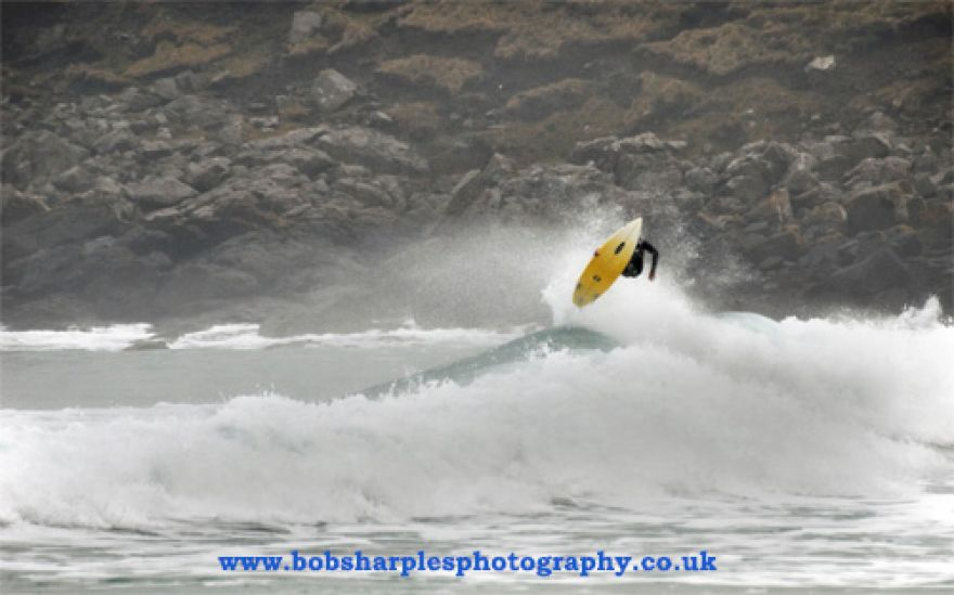 High flying surfer
