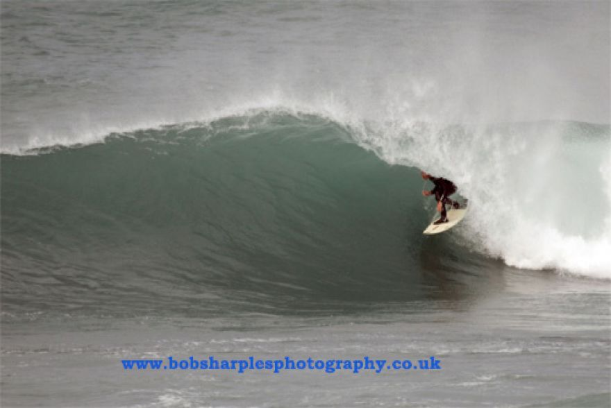 Porthleven Barrel Surfing
