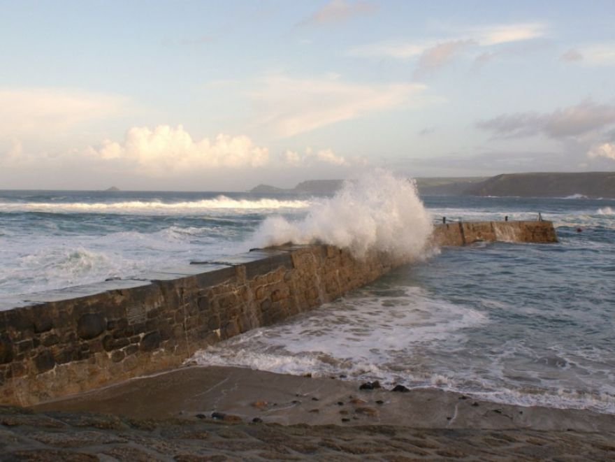 Breakwater at Sennen Cove