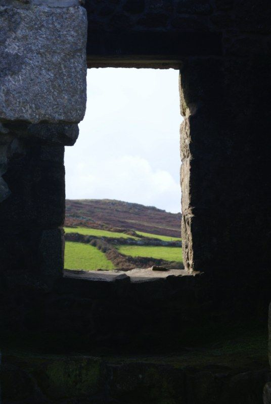 Through the window of a Pendeen tin mine