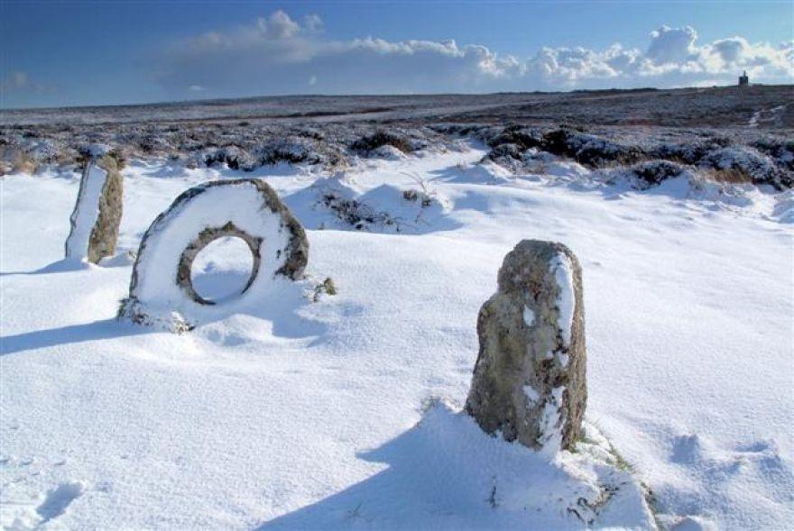 Men-an-Tol in Winter ,Near Penzance