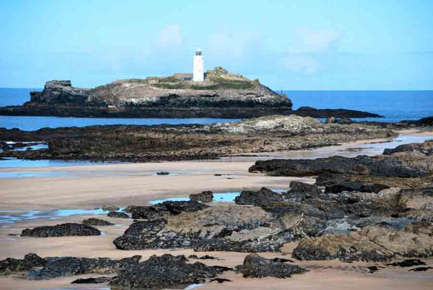 Godrevy Island at low tide