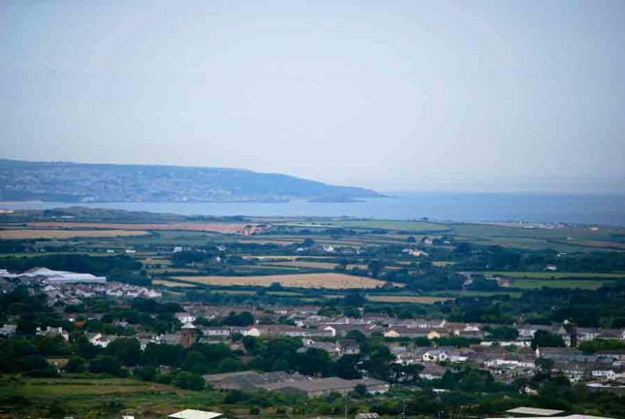 Looking towards St Ives from Carn Brea