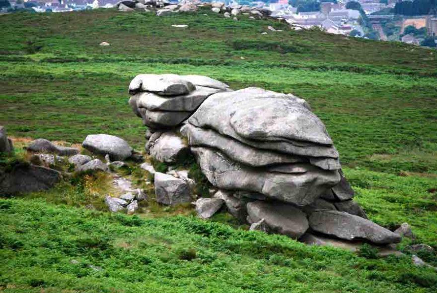 Granite rocks at Carn Brea