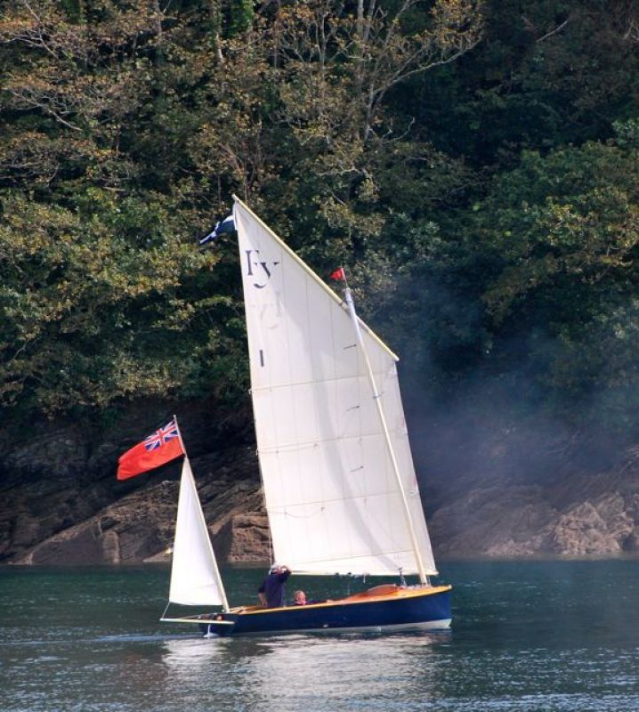 Sailing on the River at Fowey