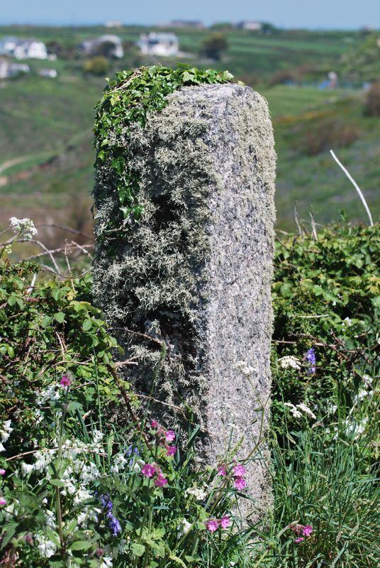 Granite gatepost Angrouse cliff Mullion