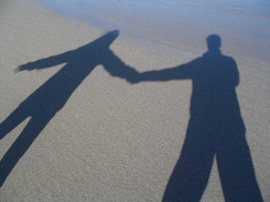 Shadows on Gwenver Beach