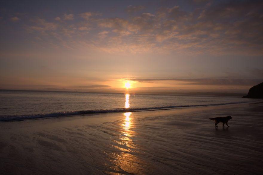 Sunrise over Carbis.