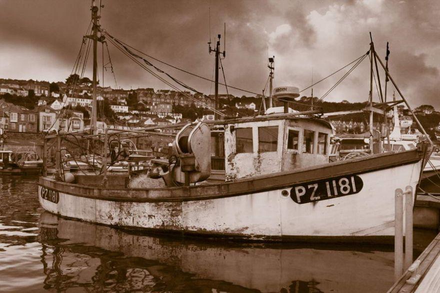 Fishing Boat lying in Newlyn Harbour