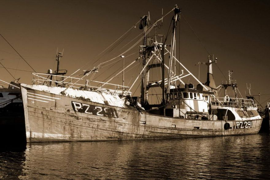 Trawler lying in Newlyn Harbour