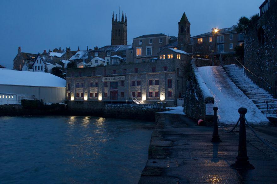 Abbey Slip in snow