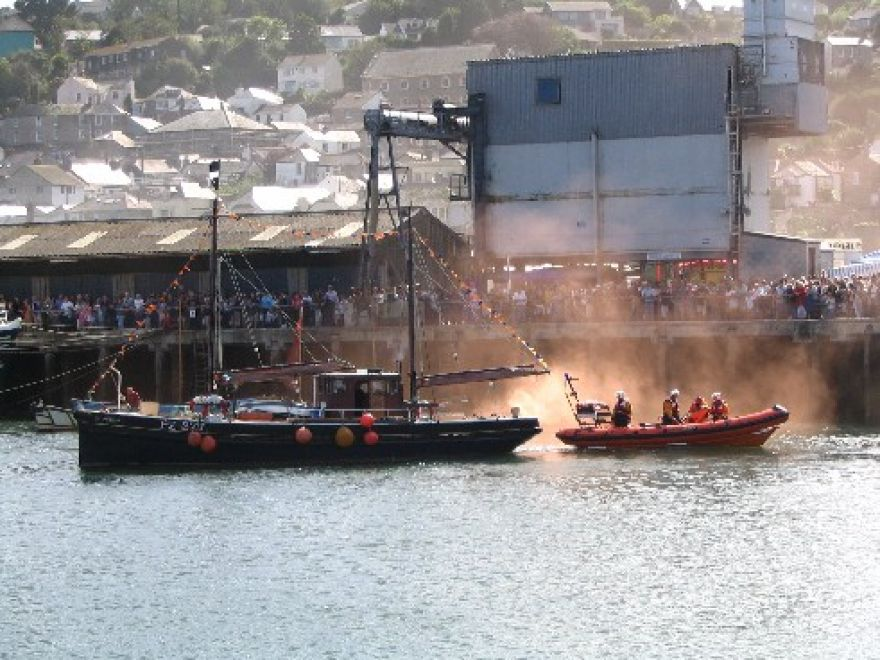 Lifeboat rescue demonstration