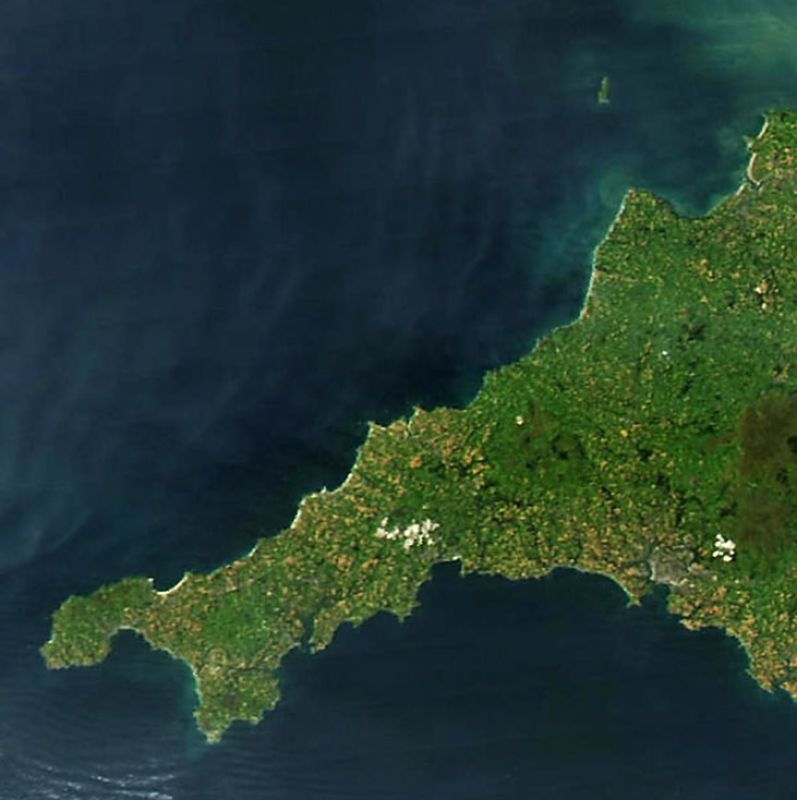 Cornwall from Space