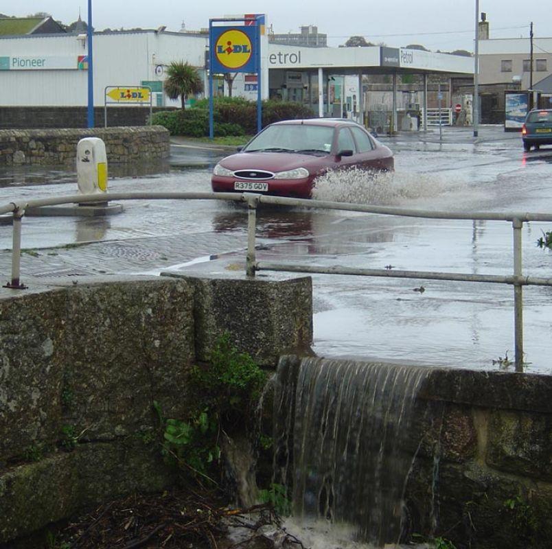 Flood - Wherrytown, Penzance