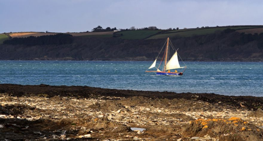Windy day on the Carrick Roads, Falmouth
