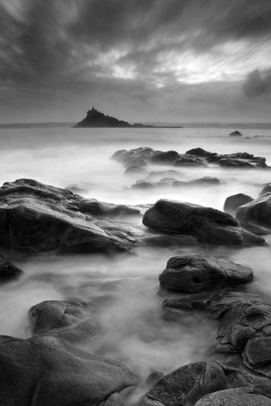 Evening Seas in Mount's Bay - Saint Michael's Mount