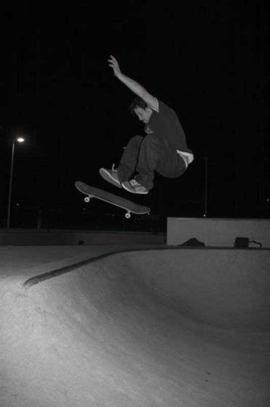 Front side flip in the baby bowl