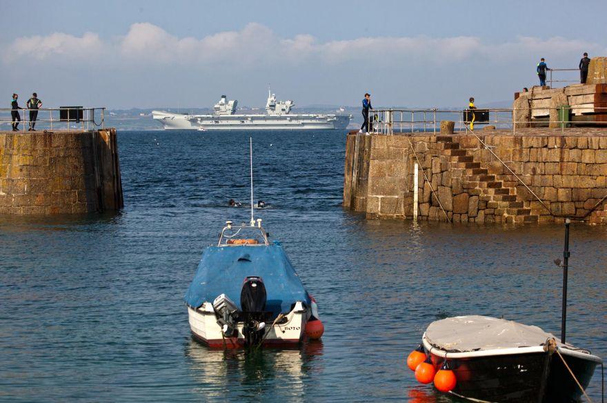 HMS Queen Elizabeth in Mount's Bay