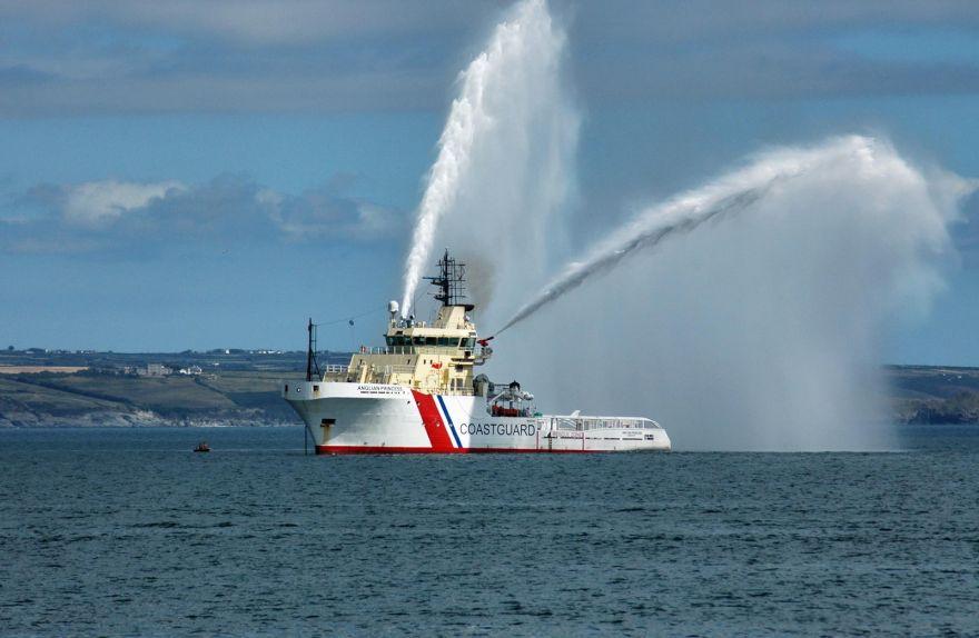 Coastguard Vessel Spraying