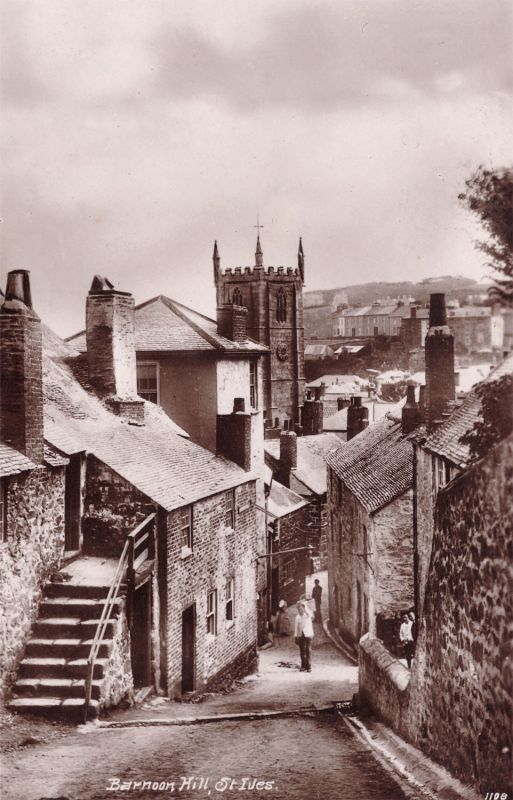 Barnoon Hill, St Ives - Vintage photo