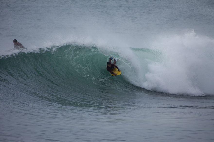 Bodyboarder - Little Barrel at Porthleven