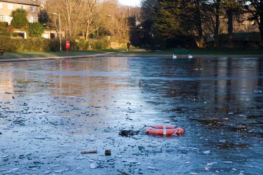 Penzance Boating Pool - Frozen