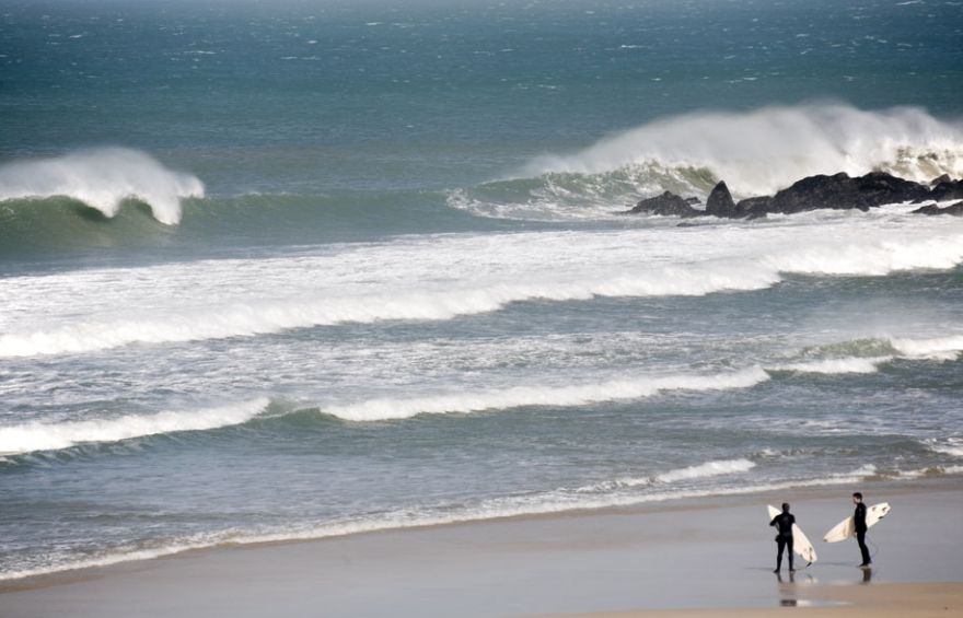 Porthmeor Surfers - St Ives