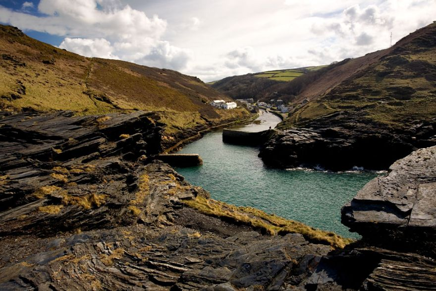 Boscastle - View up the valley