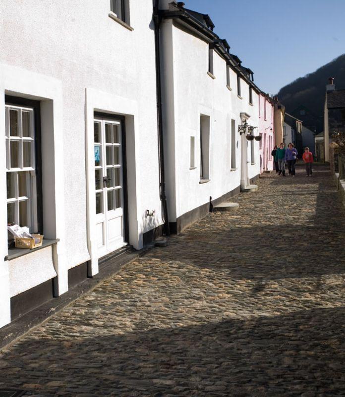 Boscastle Cobbled Street