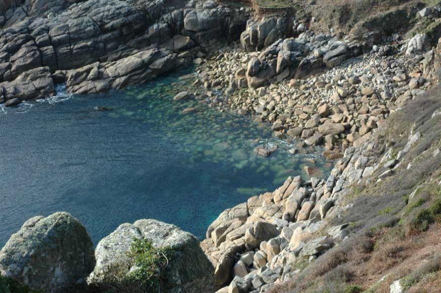 Porthguarnon Cove near Penberth