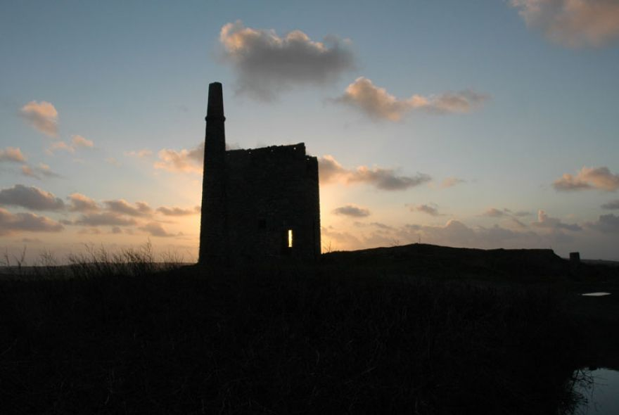 Old Mine Workings at Dusk