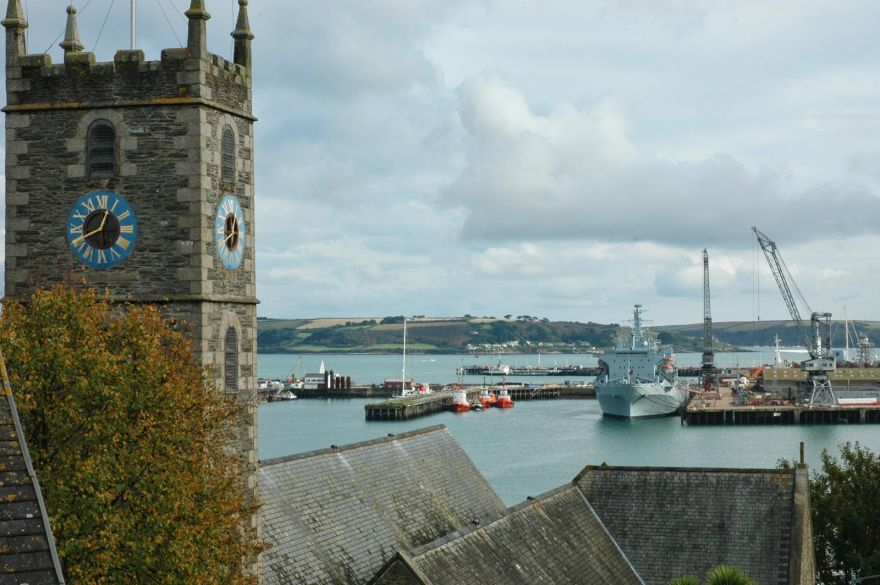 Falmouth Church and Docks
