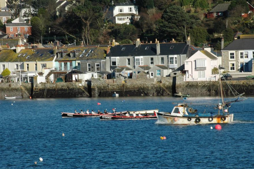 Gigs Racing in Falmouth Harbour