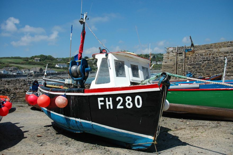 Coverack Fishing Boat