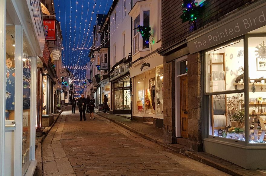 St Ives - Fore Street - Christmas