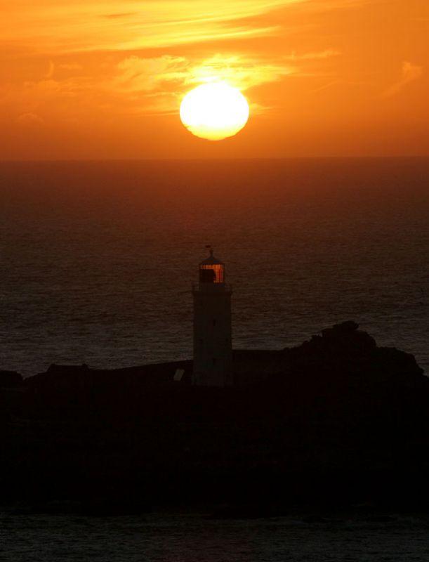 Godrevy Lighthouse Sunset - Hayle