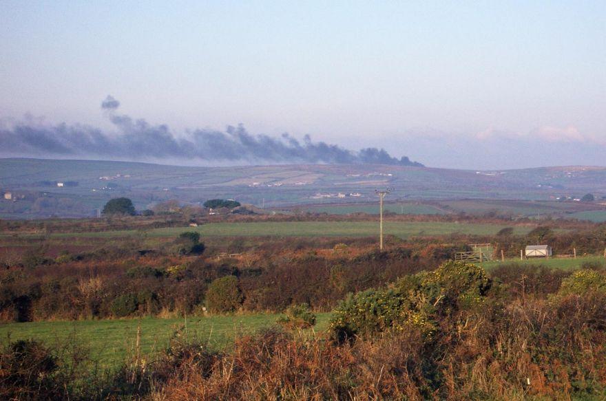 Gorse Fire on Moor