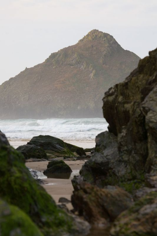 Gull Rocks Glimpse - Holywell Bay
