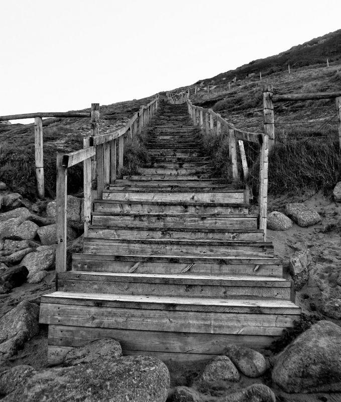 Steps at Gwenver Beach