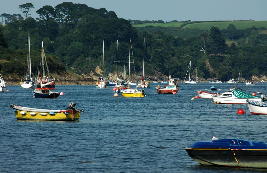 Boats in the Helford Passage