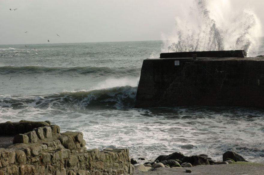 Rough Sea at Lamorna