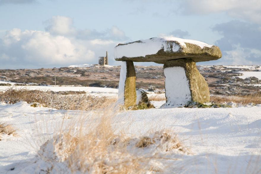 Lanyon Quoit in the Snow