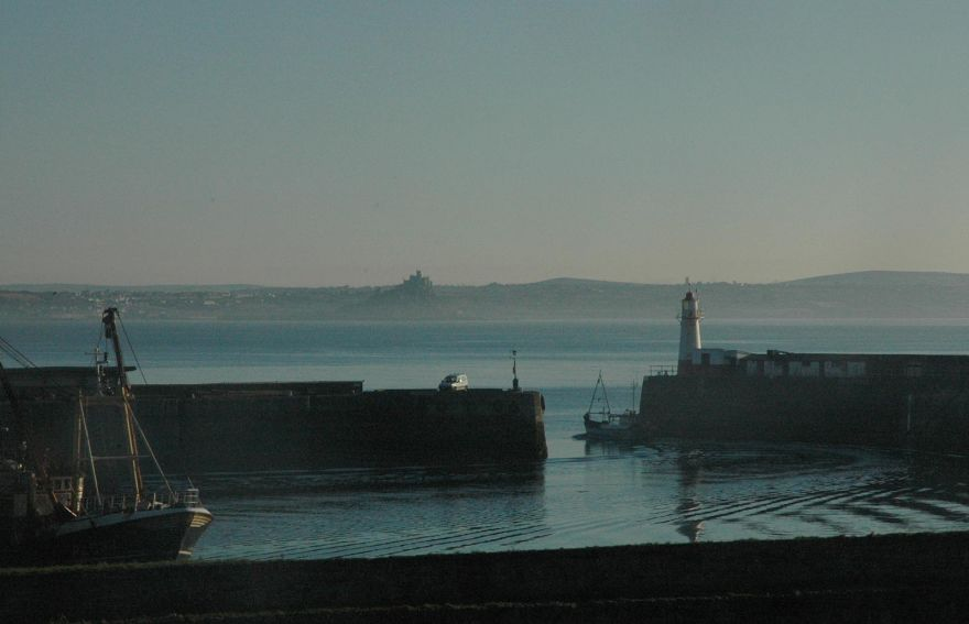 Sailing Out of Newlyn Harbour