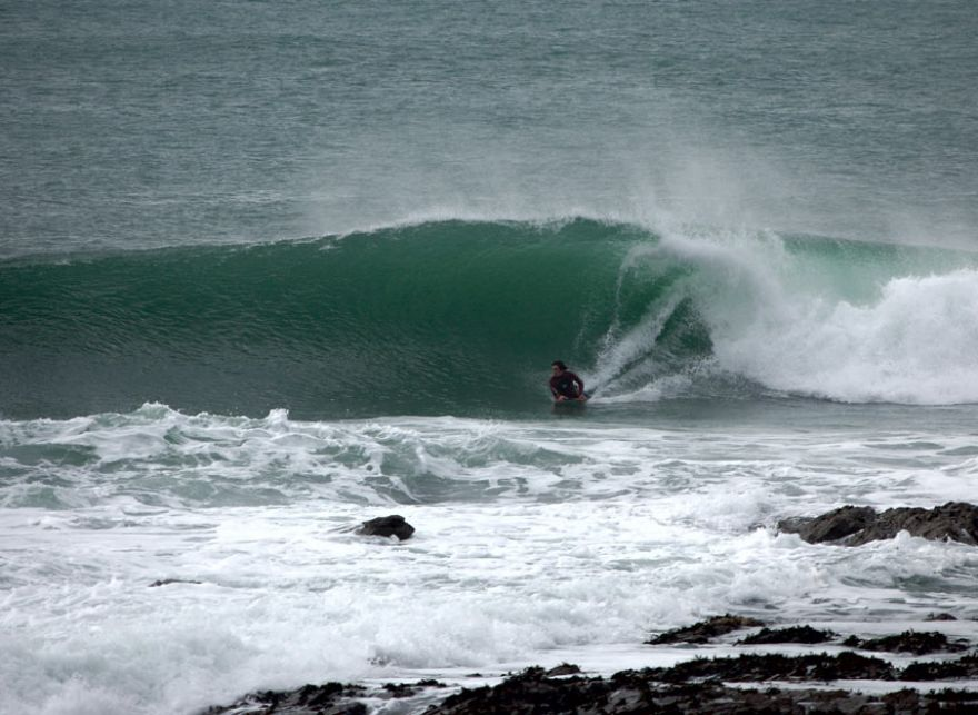 Bodyboarding at Low Tide Porthleven