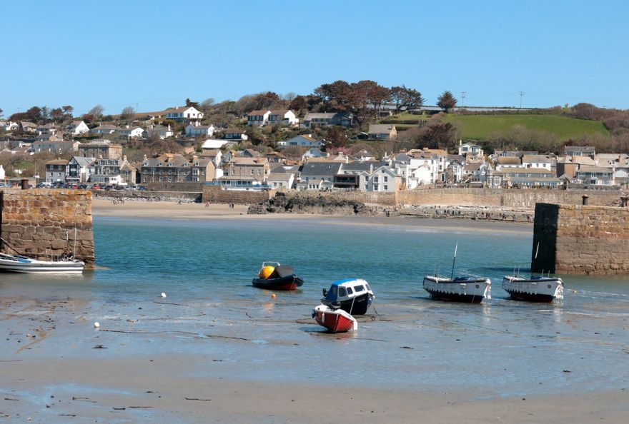 Marazion from the Mount harbour