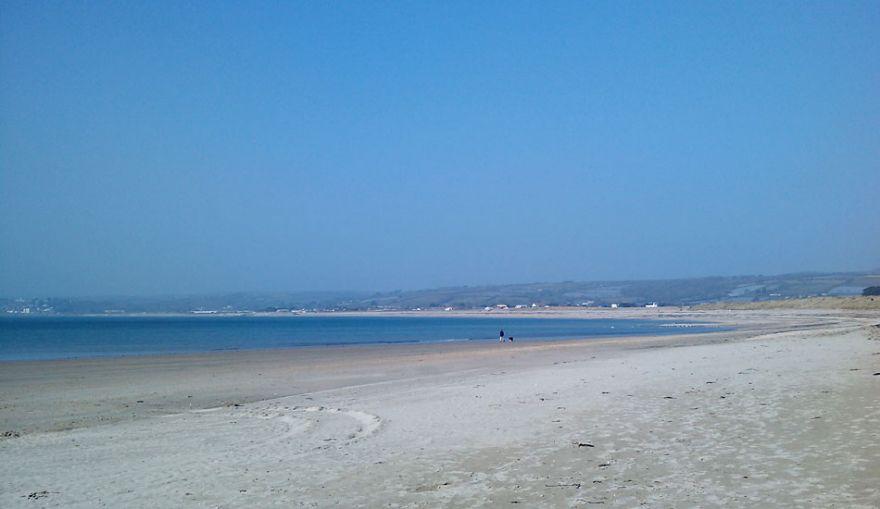 Empty Beach - Marazion