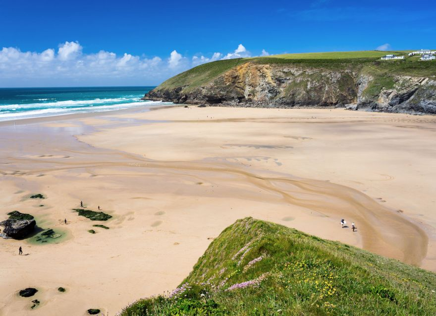 Mawgan Porth Beach - Low Tide