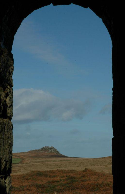 Moors through engine house arch