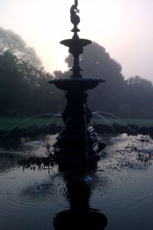 Misty Morning Fountain